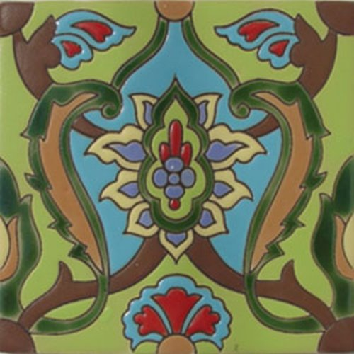 artisan produced relief tile Alma