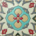hand painted relief tile Sandra