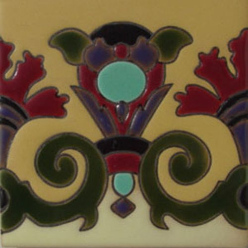 hand painted relief tiles Diego