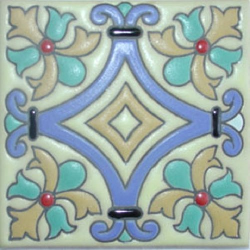 handcrafted relief tile Adele