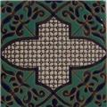hand painted relief tile Isela