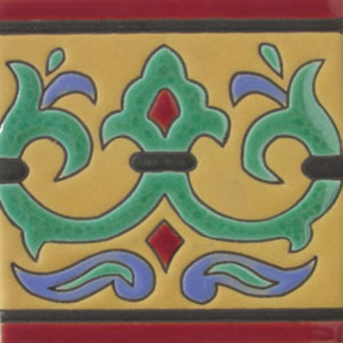 hand painted relief tiles Mario