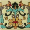 relief tiles Light Brown Flower
