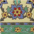handcrafted relief tile Saffron Flower