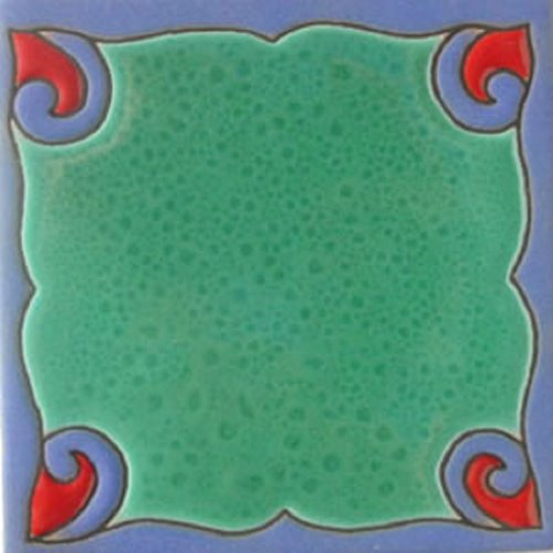 hand painted relief tile Gladis
