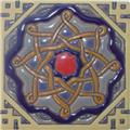handmade relief tile Graciela