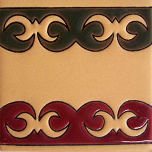 hand painted relief tiles Emmanuel