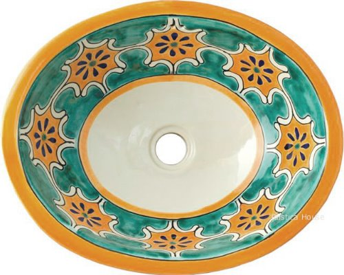 mexican bathroom sink Arabesque Green