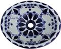 mexican bathroom sink Beautiful Cobalt Flower