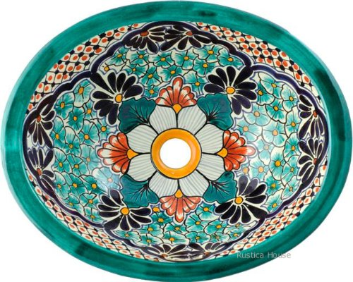 Mexican Talavera Bath Sink Emilio