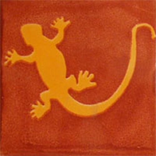 mexican tile Terra Cotta Lizard