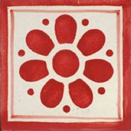 red talavera tile
