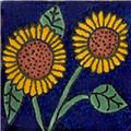 mexican tile Sunflowers