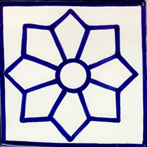 hand painted talavera tile Belen Star