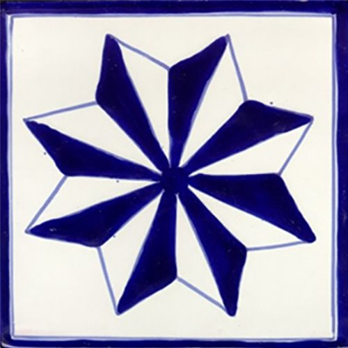artisan produced talavera tile Star