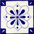 hand painted talavera tile Clover Flower