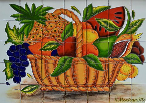 kitchen tile mural Fruit Basket