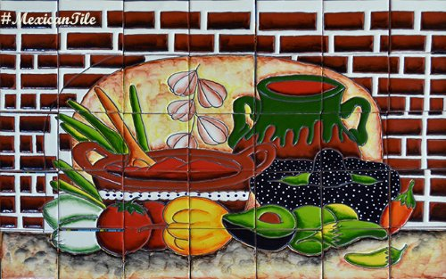 kitchen tile mural Salsa