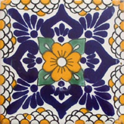 mexican tile Yellow Flower