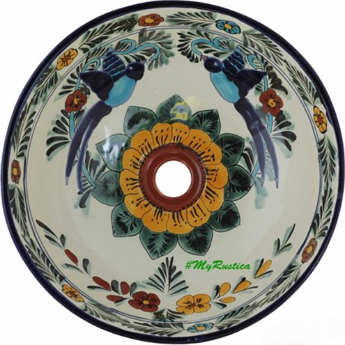 antique talavera bathroom sink