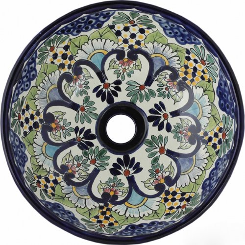 mexican talavera bathroom sink