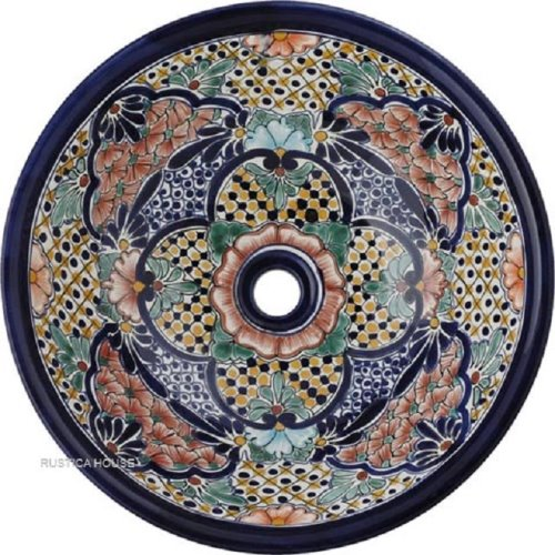 hand painted mexican talavera bathroom sink