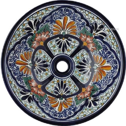 handcrafted moorish talavera bathroom sink