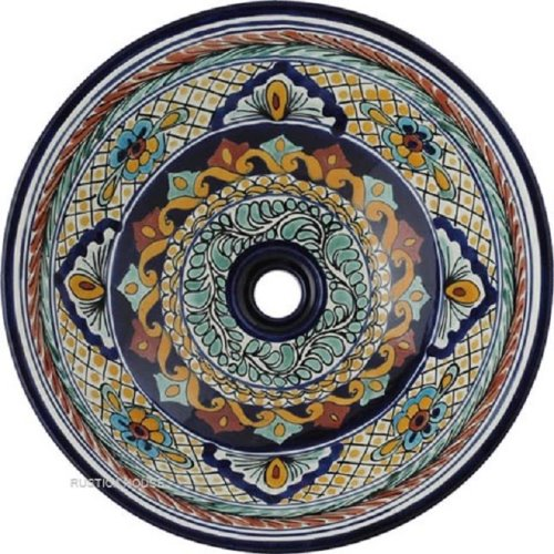 hand painted artisan talavera bathroom sink