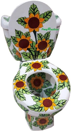 mexican toilet sunflowers
