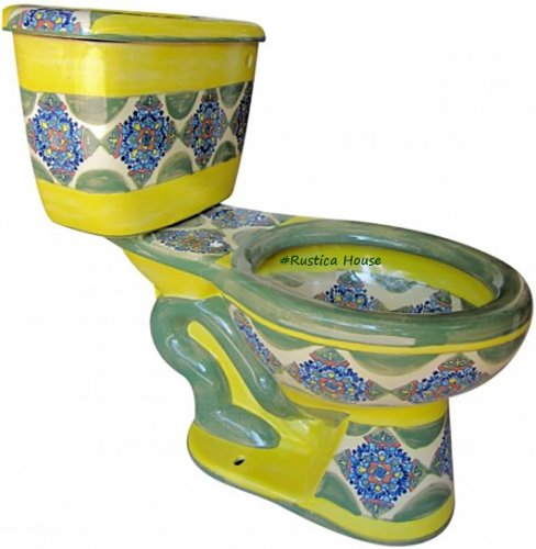 hand painted mexican toilet Montana