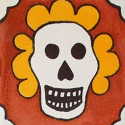 mexican brown tile day of dead