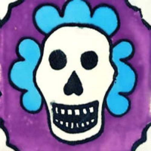 mexican tile day of dead wine
