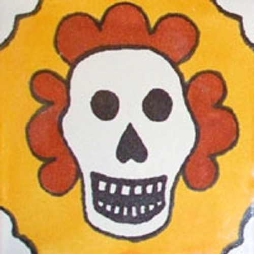 mexican tiles day of dead yellow