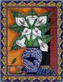 kitchen tile mural grapes and calla lilies