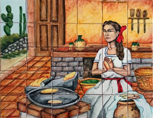 colonial kitchen tile mural