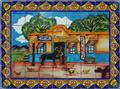 hand painted ceramic tile mural