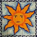 kitchen tile mural Sun