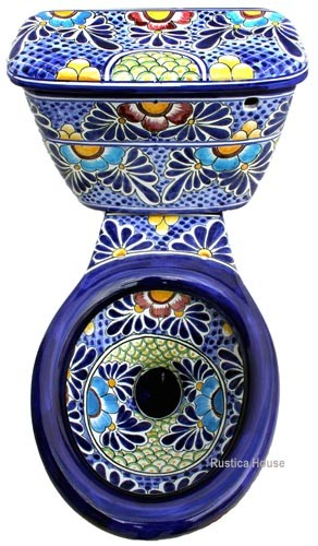Talavera Toilet Mexican Tiles 169 Kitchen Bath Amp Stairs