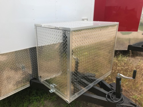 Tongue Mount Generator Box (Flat Front Trailer Only)