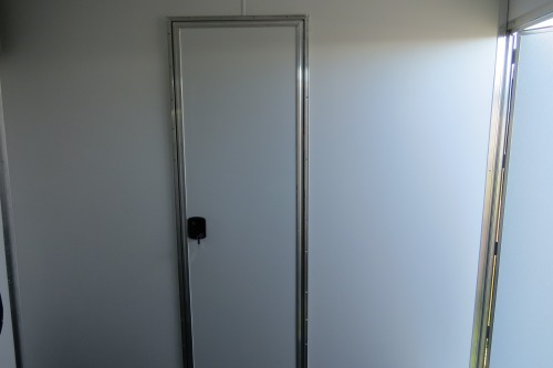 "Partition Wall with 24"" Door with White Vinyl Walls"