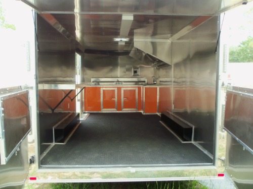 Add Dutch (Double Barn) Doors Under Concession Window for Rear of Trailer