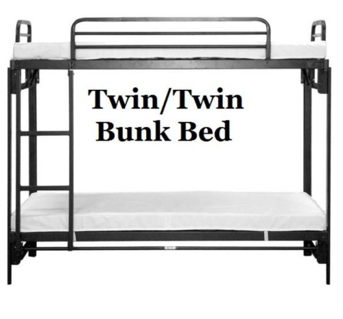Fold Up Bunk Bed - Twin Size Bunks