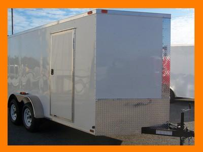 New 7x12 3500 Tandem Diamond Enclosed Cargo Or Motorcycle