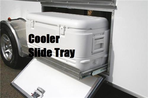 Cooler Box with Slide Tray