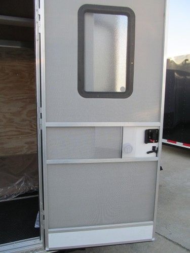 "Upgrade Side Door to 32"" x 66"" RV Style Door with Window/Screen"