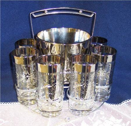Guardian Service Ware Aluminum Cookware Hostess Ice Bucket Glasses Tray  gs05