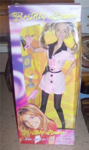 """BRITNEY SPEARS 12/"""" DOLL BABY ONE MORE TIME PLAY ALONG 2000"""