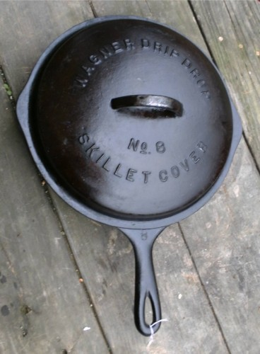 Wagner Ware 8 10 Cast Iron Skillet W Cover Lid G787
