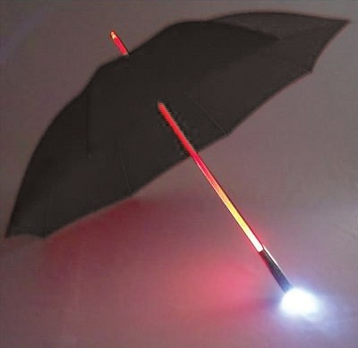 Umbrella w/ LED Handle Light