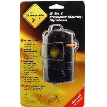 Black Pepper Spray - Tornado Pepper Spray System - Women's Safety - Self Defense_Img